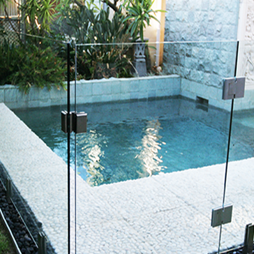 Frameless glass pool fencing perth stainless steel for Glass pool gate